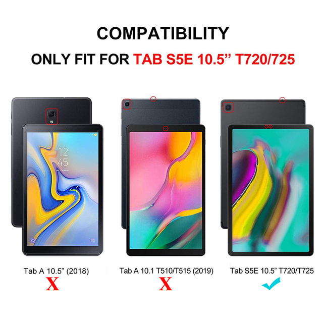 "Tablet abdeckung fall für Samsung Galaxy Tab S5E 2019 SM-T720 SM-T725 neue freigegeben Galaxy tab S5E 10.5 ""tablet ständer abdeckung fall"