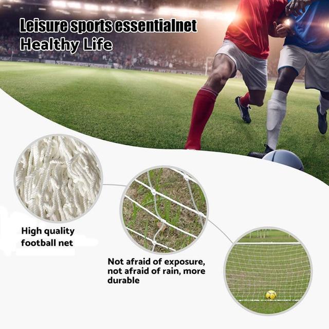 Filet de but de Football, filet d'entraînement Durable, maille de poteau d'entraînement pour Football, Match Junior Sports de plein air, pratique du Fitness 3