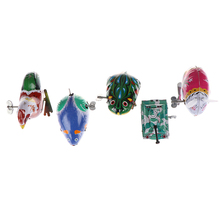 Sale 1pc Tin Wind Up Clockwork Toys Jumping Iron Frog Rabbit Cock Toy Action Figures Toy For Children Kids Classic Toy