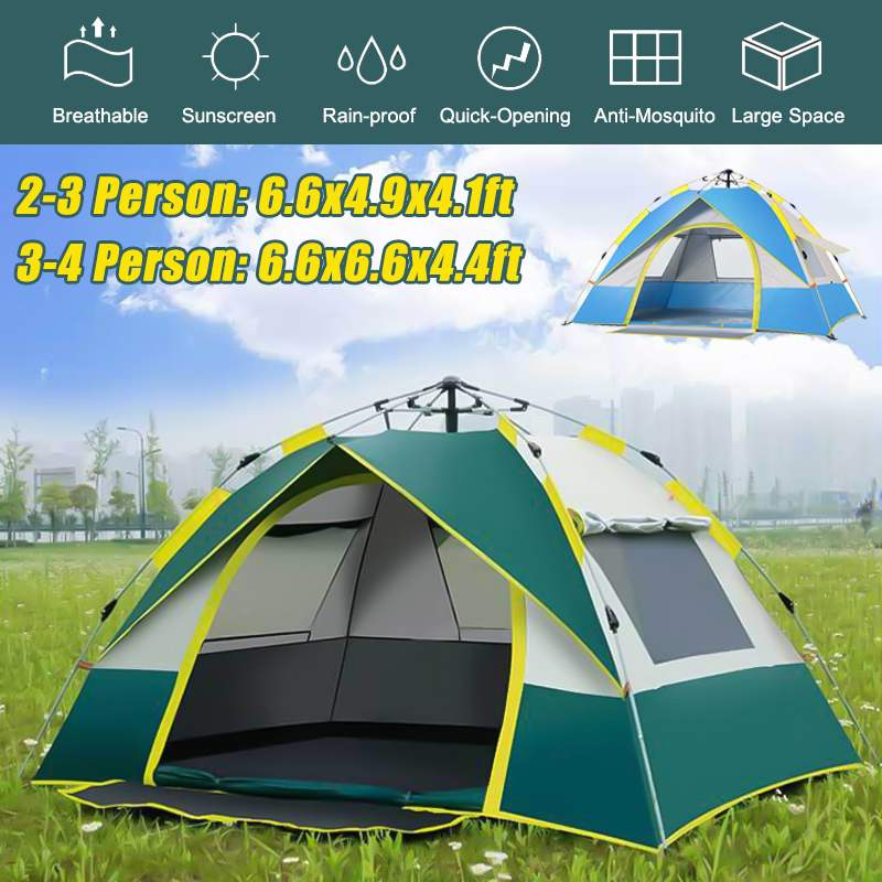 green the camping tent for 2-3 persons Outdoorer tent Festival Camp waterproof