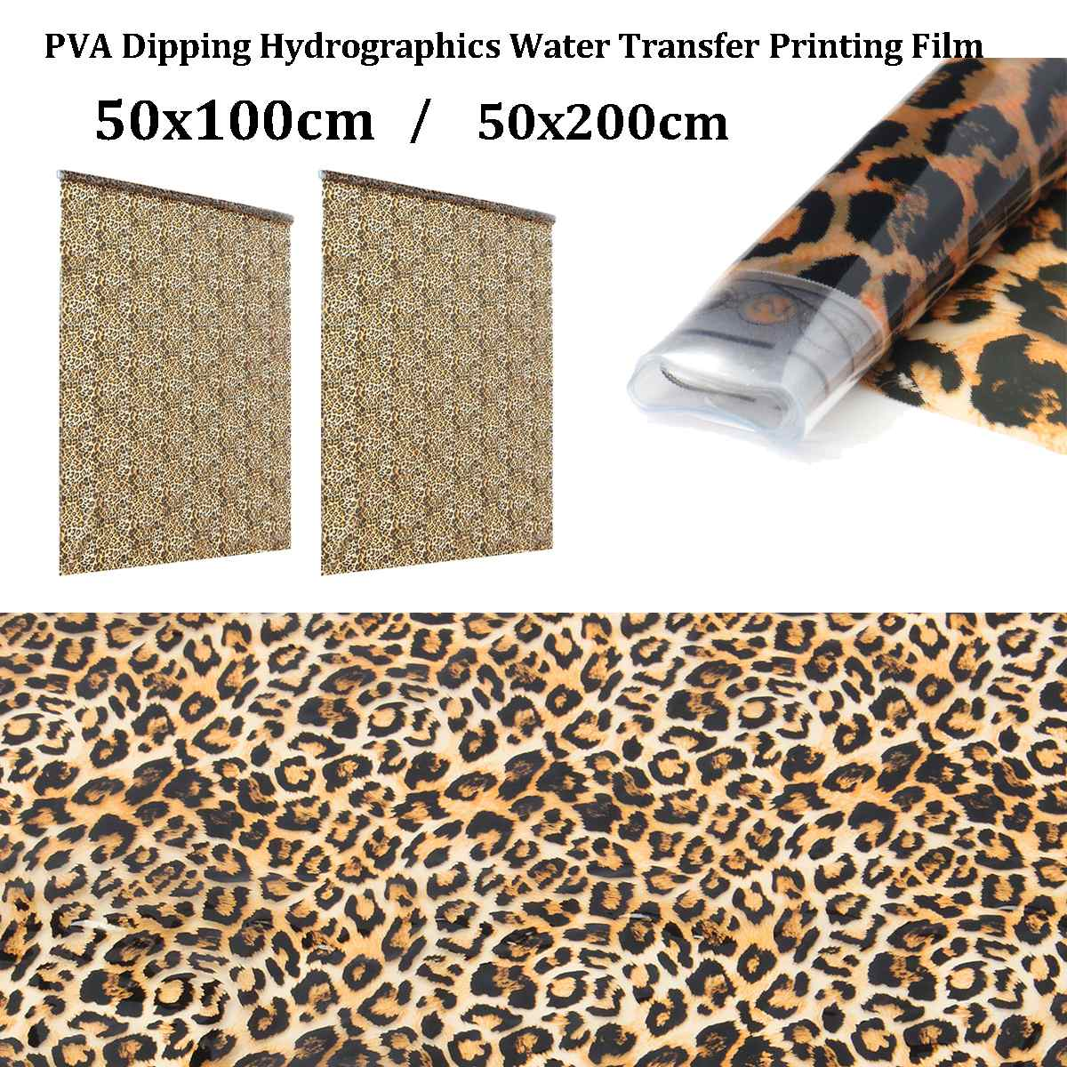 50x100cm/50x200cm PVA Hydrographic Film Water Transfer Printing Film Hydro Dip Style Decals Stickers