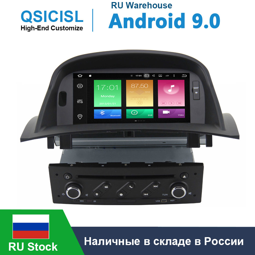 Android 9.0 Car GPS Radio DVD player for Renault Megane 2 / Fluence 2002-2008 head unit multimedia Car Radio 1 din with canbus