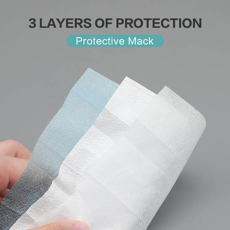 Image 2 - 50 100 pcs 3 Layer Non woven Dust Proof Flu Face Mask Thickened Disposable Mouth Mask Anti Dust Protective Earloops Cover MasksWomens Masks   -