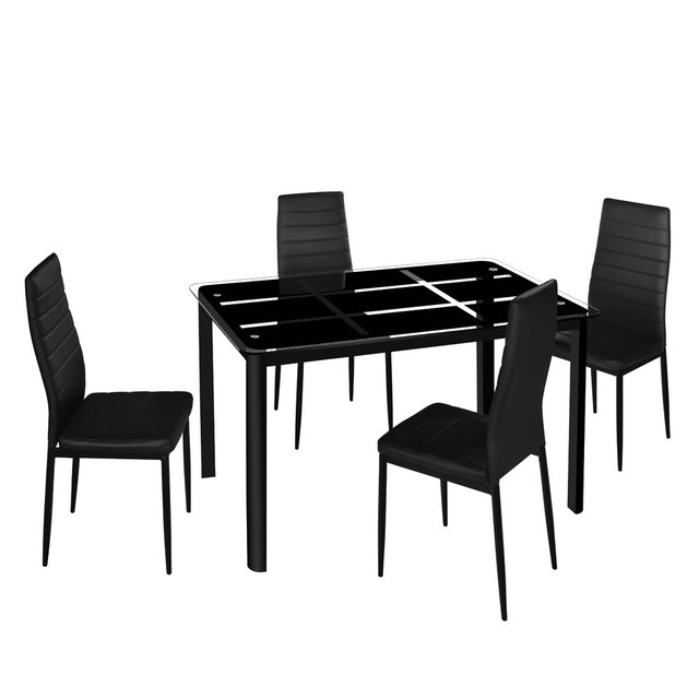 Dining Table w/ 4  High Backrest Chairs 1