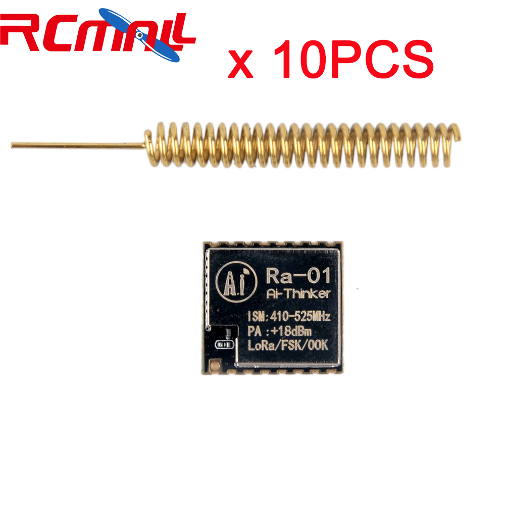 10pcs/lot LoRa-01 SX1278 LoRa Module 433M Spread Spectrum Wireless Transmission Ra01 V1.0 With Antenna For Smart Home FZ2801