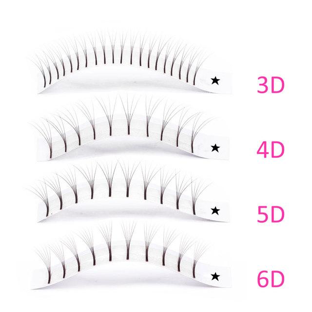 ABONNIE Premade Volume Fans Lash Russian Volume Professional Eyelash Extensions C/D Curl Eyelash Extension Faux Mink 3D/4D/5D/6D 1
