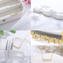 2019 personality couple necklace letter necklace gold silver rose gold necklace I love you crystal necklace gift for mother rose gold color family tree necklace mother s necklace with birthstone grandmas gift custom gift for mother
