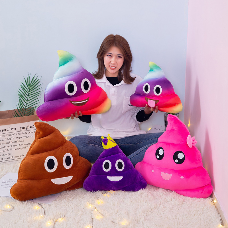 20cm Mini Cute Smiley Poop Cushion Pillow Almofada Stuffed Kids Plush Toy Doll Poo Cojines Sofa Seat Pillow Coussin Home Decor