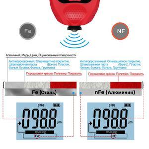 Image 4 - R&D GM998 red paint coating thickness gauge car paint electroplate metal coating thickness tester meter 0 1500um Fe & NFe probe