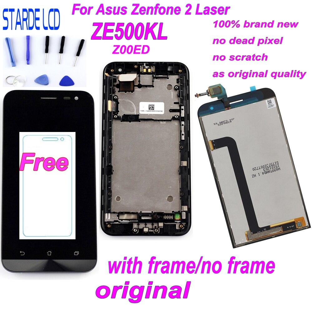 Starde 5.0 ''LCD pour Asus Zenfone 2 Laser ZE500KL Z00ED LCD écran tactile numériseur assemblée avec cadre et outils gratuits