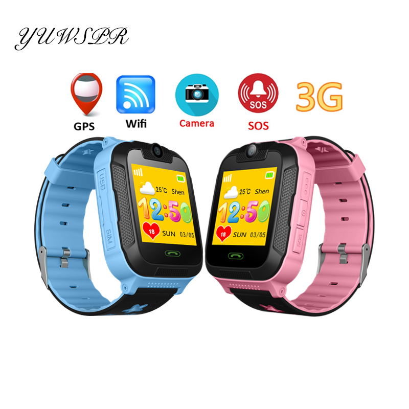 Kids Tracker Watch 3G Network SOS Call GPS LBS WIFI Location Bluetooth 1.4'' Touch Screen Camera Tracking Baby Clock TD07S