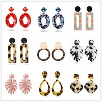Acrylic Acetate Earrings 2019 Women Clip on Earring Bohemian Big Statement Fashion Circular Luxury Ear Clips Jewelry Accessories