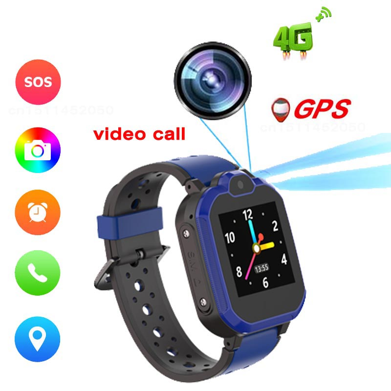 Kids Smart Watch 4G GPS WIFI Tracking Video Call Waterproof SOS Voice Chat Children Watch Care For Baby Boy Girl Smart Watch
