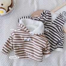 Outwear Hoodies Sweatshirt Baby-Girls Kids Infant Winter 9M-5Y Velvet Long-Sleeve Boys