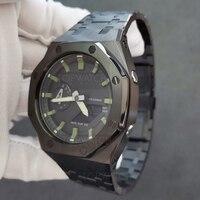 V3 Plus Generation GA2100 Lünette Metall Uhr Band Strap für GA-2100 Edelstahl Ersatz Zubehör GA2110 Uhrenarmbänder 3RD