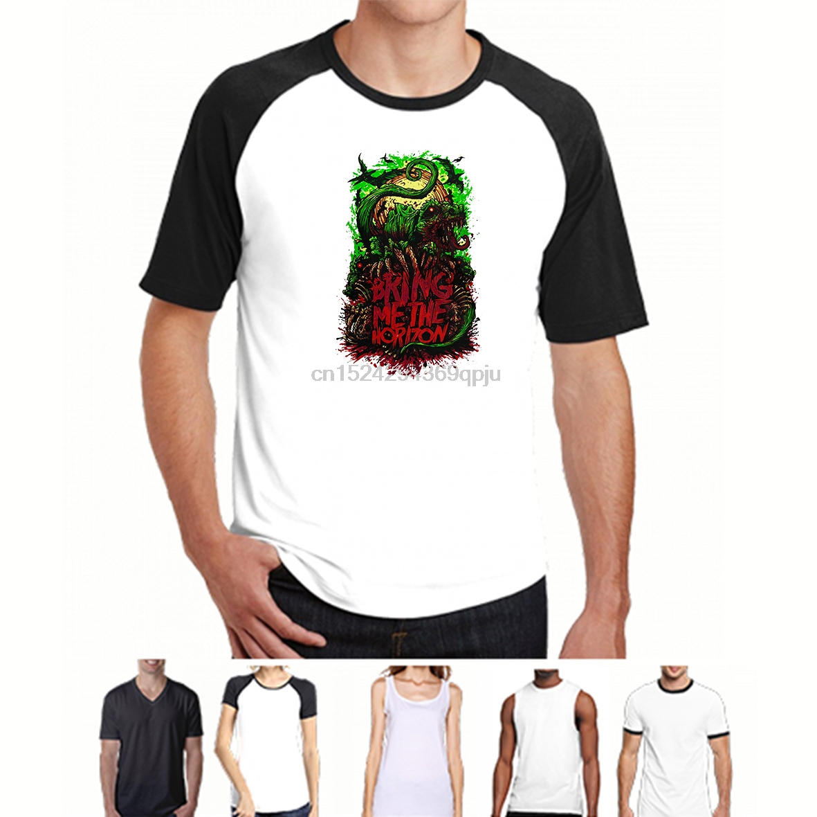 Bring Me The Horizon Dinosaur White T Shirt New Official BMTH