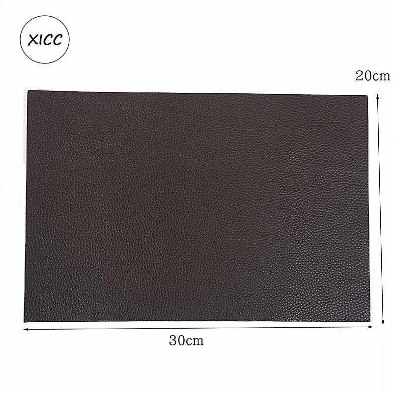 Grande Formato 30X20 Cm Autoadesivo Divano in Pelle Sintetica Pu Toppe E Stemmi Litchi Faux Artificiale Foro di Riparazione Adesivo Auto sedile Applique