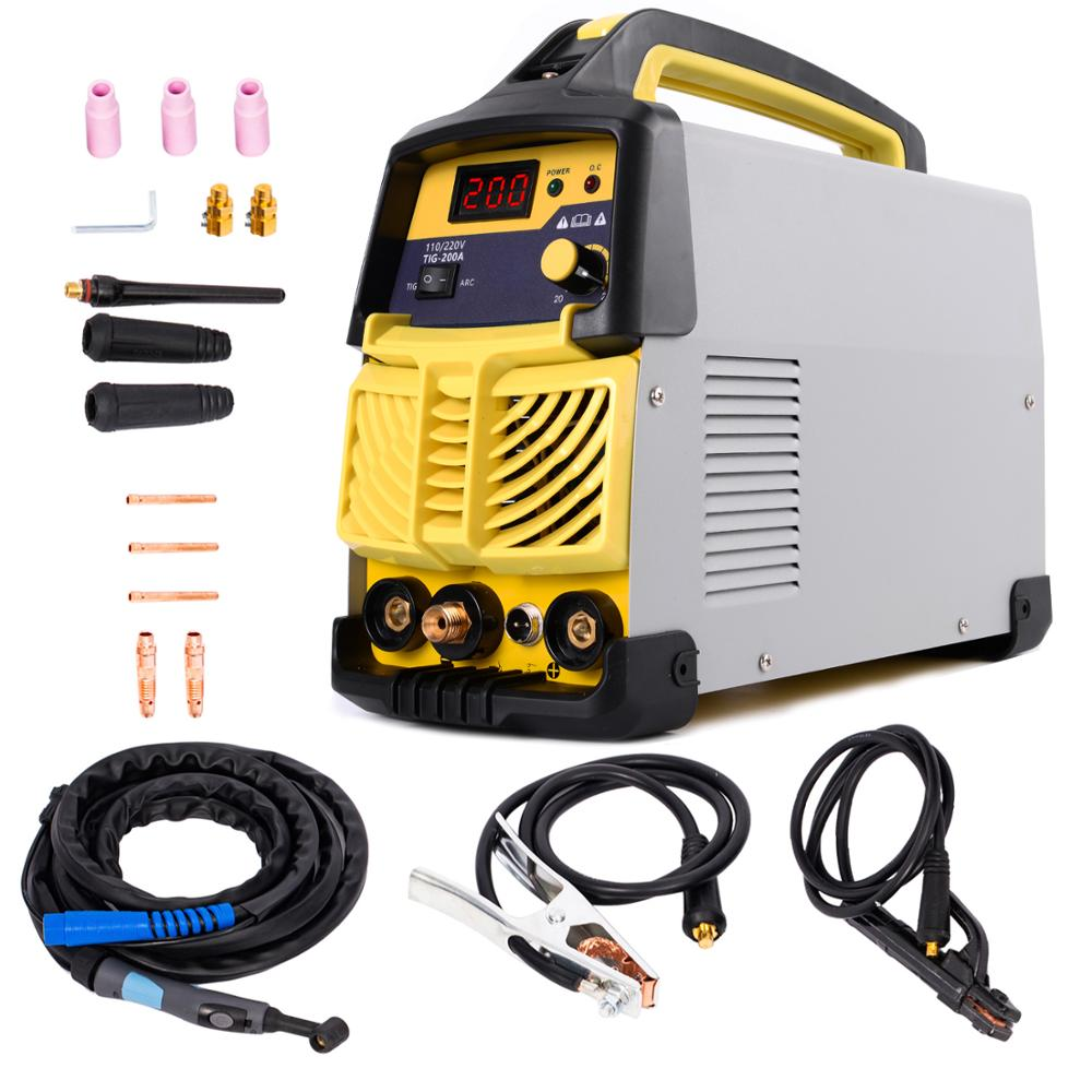 Tig Welder, <font><b>200</b></font> Amp HF TIG&MMA Portable (220V±15%) <font><b>Inverter</b></font> Welder for Stainless Steel, Alloy Steel, Carbon Steel image