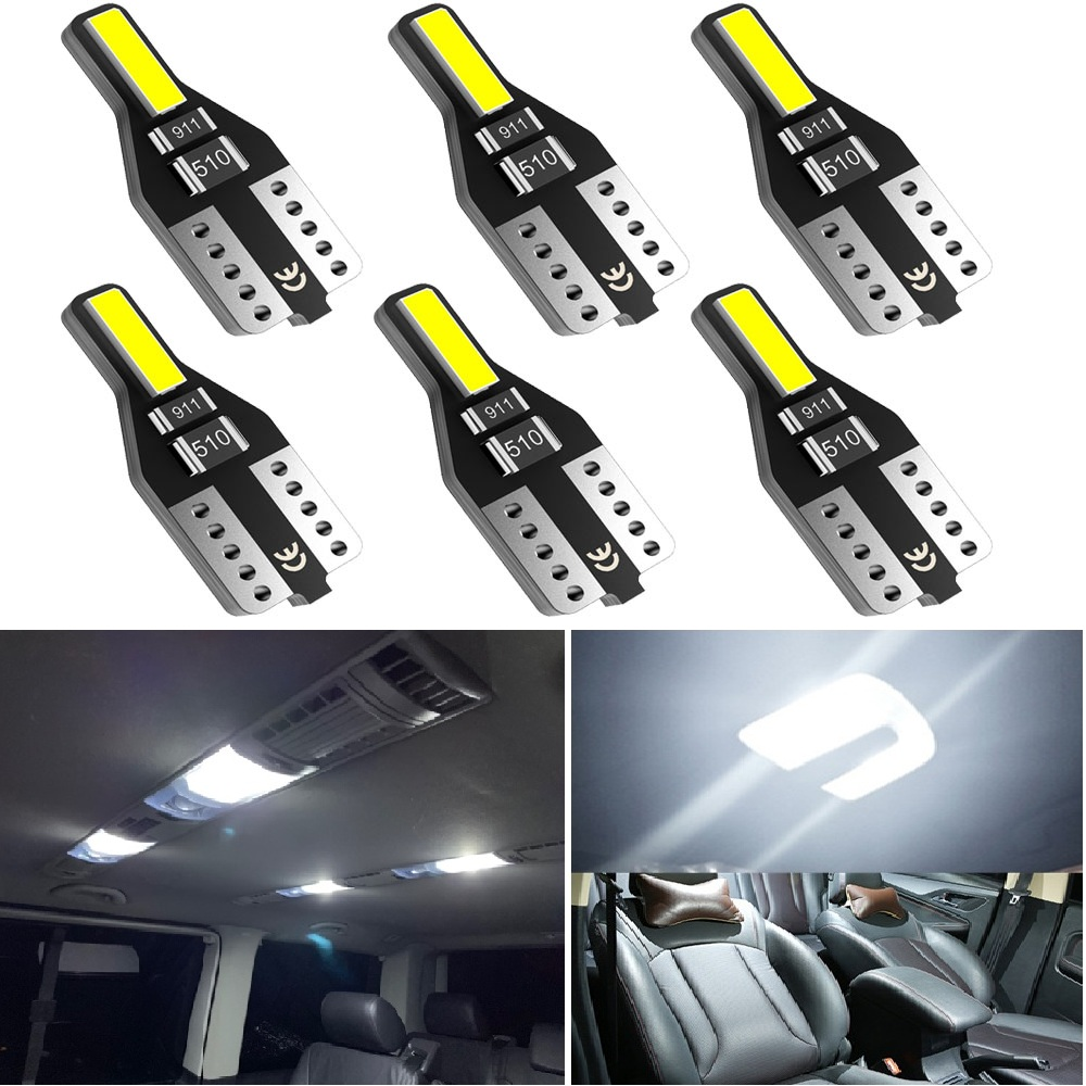 6Pcs T10 W5W LED Car Interior Reading Dome Light Trunk Lamp For <font><b>Volkswagen</b></font> VW Golf 6 Tiguan Magotan Sagitar <font><b>CC</b></font> Passat Antenna image