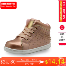 Apakowa marka yeni çocuk ayakkabı Pu deri çocuk ayakkabıları kızlar için bahar sonbahar kızlar ayakkabı ile kristal kemer desteği ayakkabı