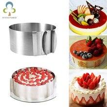 1 шт. Регулируемый мусс кольцо 3D круглые формы для торта из нержавеющей стали, для выпечки формы кухонный десерт торт инструменты для украшения ZXH