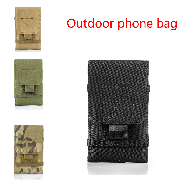 5.5 Inch Tactical Multi-function Wearable Mobile Phone Accessories Bag Outdoor Waist-mounted Mobile Phone Case Mobile Phone Bag