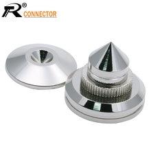 Cône d'isolation des haut-parleurs, en acier inoxydable usiné, pour ampli Hifi, plateau tournant, enregistreur CD DAC avec adhésif 3M 27mm