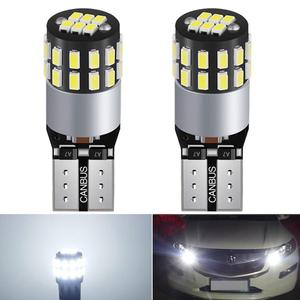 2x W5W T10 LED Bulbs Canbus 3014 30 SMD Led Car Parking Position Lights Interior Map Dome Lights 12V White Auto Lamp 6500K(China)