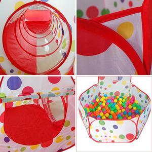 Image 4 - Tienda de campaña grande para niños, Teepee de tubo de piscina, PISCINA DE BOLAS para niños, Pit plegable, tubería para gateo, casa de juego
