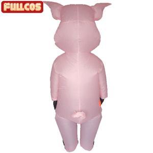Image 3 - Rosa porco inflável trajes de porco para adultos animal halloween carnaval cosplay festa fantasia vestido feminino masculino aniversário roupas rosa