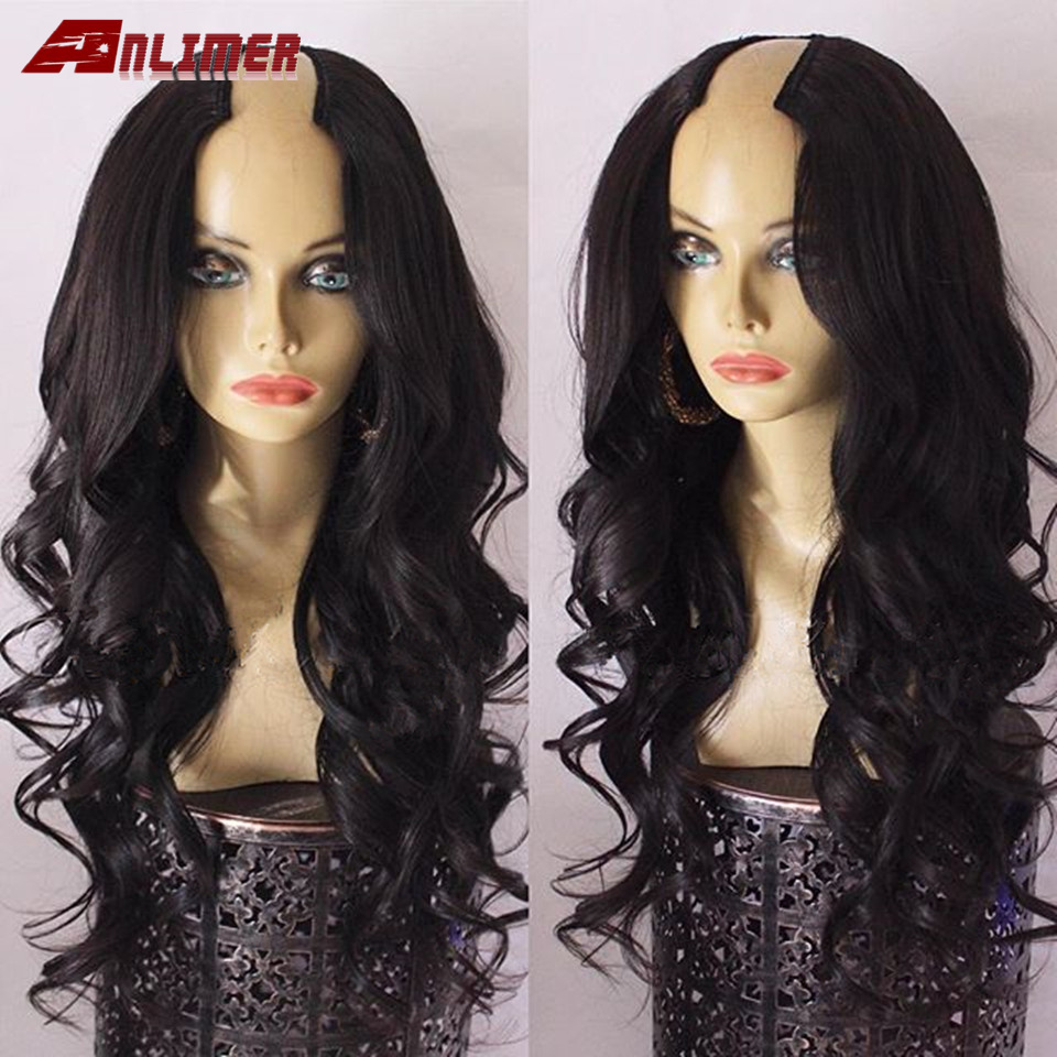 Body Wave U Part Human Hair Wigs 100% Unprocessed Brazilian Remy Hair U Part Wig For Women Glueless Middle U Shaped Wigs