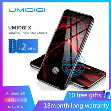 Umidigi X Di Layar Sidik Jari 6.35 AMOLED 48MP Triple Kamera Belakang 128GB NFC Ponsel Android 9.0 4G smartphone Dibuka Sel(China)