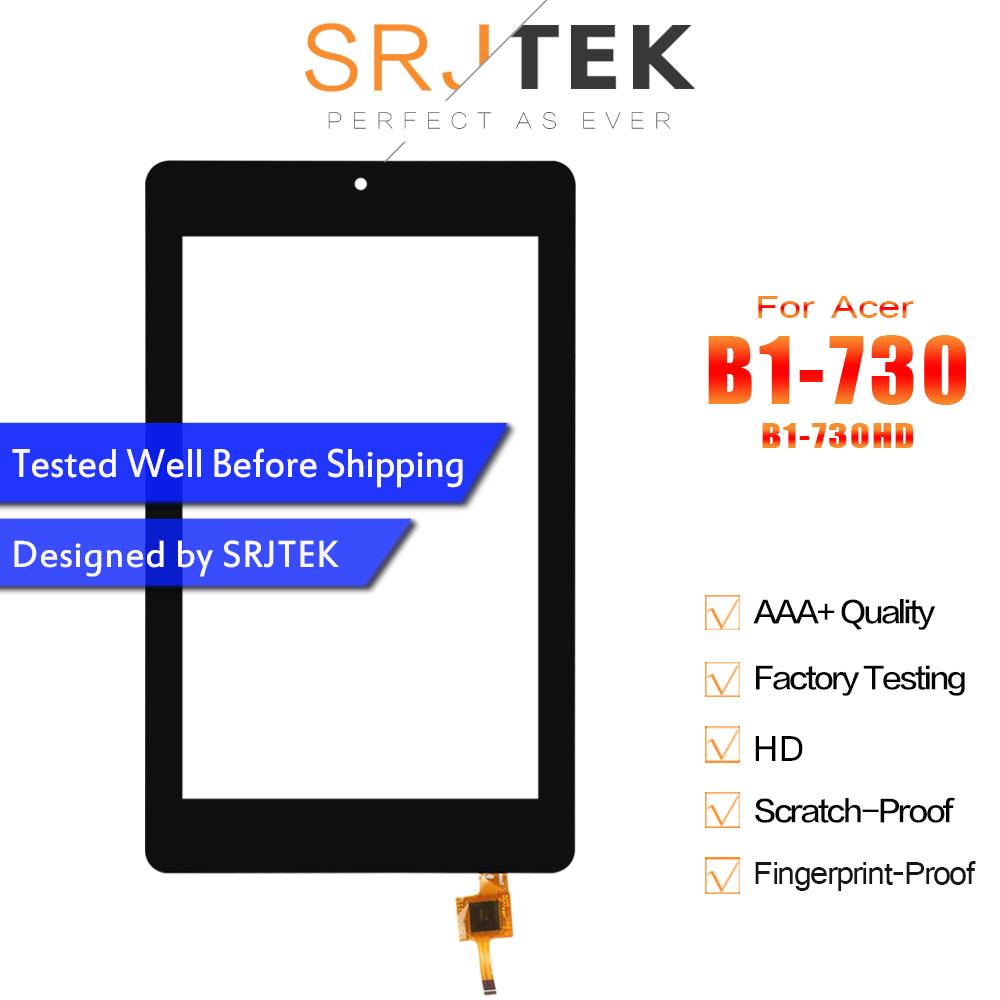Srjtek For <font><b>Acer</b></font> Iconia One 7 <font><b>B1</b></font>-730 <font><b>B1</b></font>-<font><b>730HD</b></font> <font><b>B1</b></font> 730 <font><b>730HD</b></font> Touch Screen Digitizer Sensor Glass Panel Tablet PC Replacement Parts image