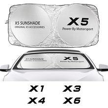 Przednia szyba samochodu parasol przeciwsłoneczny pokrowiec na BMW X5 E70 F15 G05 X1 F48 X3 F25 X6 E71 X2 F39 X4 F26 X7 G07 akcesoria anty UV reflektor