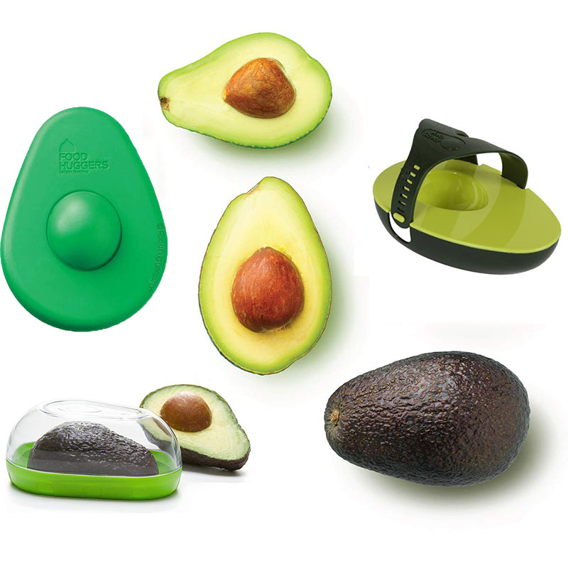 Silicone Avocado Huggers Avo Saver Box Avocado Keeper Storage Container Snap-On Lid Keep Your Avocados Fresh Kitchen Gadget