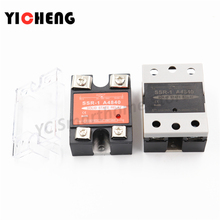 цена на high quality DC control DC Voltage relay Single-phase solid state relay SSR-DD relay control voltage radiator 220V
