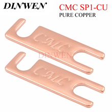 CMC טהור נחושת מקביל חיבור צלחת עבור HiFi אודיו רמקול מחייב הודעה SP1 CU 50x15x2mm 2PCS