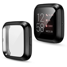 Case Screen-Protector Watch-Cover Fitbit Sense Full-Shell-Accessories TPU for Versa 3/2-1