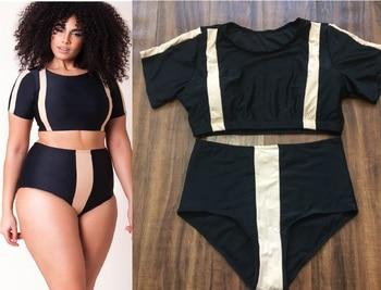 Plus Size Swimsuit Push Up Swimwear Women Bandage Bathing Suits Strappy Swimsuits Large  Monokini Badpak Female Fatkini 7