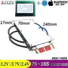 7S כדי 16S 50A /100A חדש DIY LiFePo4 ליתיום LTO החכם BMS PCM עם אנדרואיד Bluetooth APP תוכנת צג