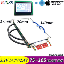 7S to 16S 50A /100A  New DIY LiFePo4  Li ion LTO Smart BMS PCM With Android Bluetooth APP Software Monitor