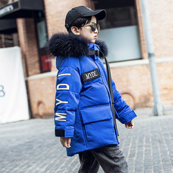 OLEKID -30 Degree Russian Winter Boys Down Jacket Hooded Thick Warm Boy Winter Coat 5-14 Years Kids Teenage Outerwear Parka