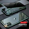 Роскошный металлический чехол для iPhone SE 2020 11 Pro Max  анти-шпионский чехол из закаленного стекла для iPhone XR XS MAX  чехлы