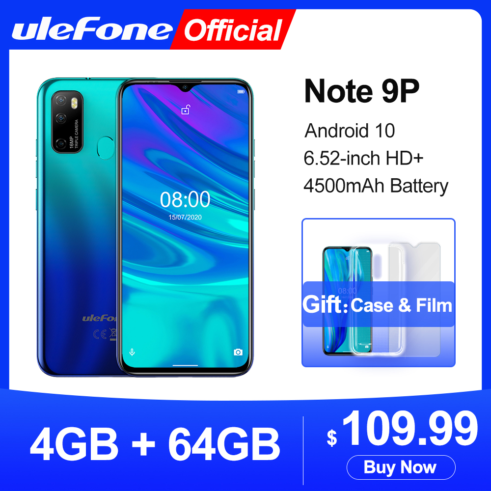Ulefone Note 9P Smartphone Android 10 4GB+64GB Waterdrop Screen 6.52 inch Mobile phone Octa core 4G Celular Phone|Cellphones|   - AliExpress