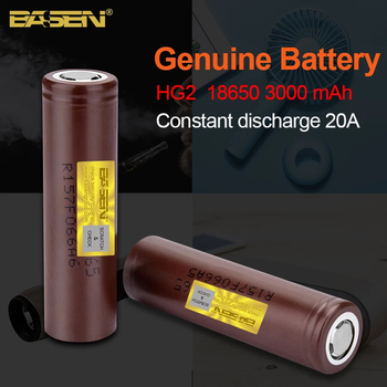 18650 3000mAh HG2 battery New Original 3.6V Continuous discharge 30A  For Power Rechargeable batteries for electric bicycle jouym icr18650 30q 18650 3000mah rechargeable battery 30a large current 18650 high current power discharge welding nickel sheets