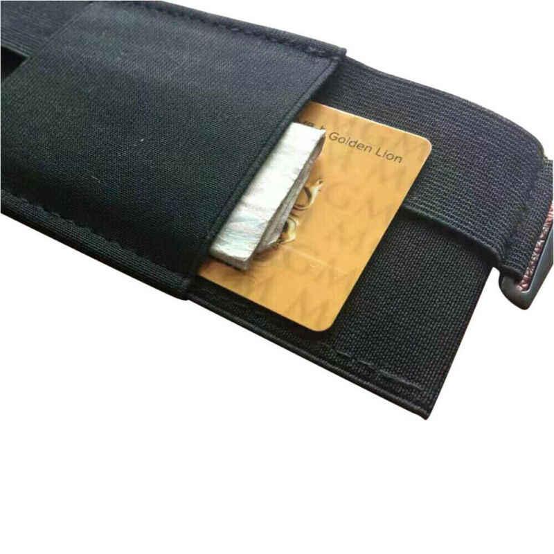 Ultrathin Kantong Tas Pinggang Minimalis Tak Terlihat Dompet Mini Kantong Kunci Kartu Ponsel Tas Pinggang Mini Kantong Aman untuk Kartu Kunci telepon
