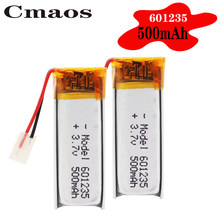 Bateria recarregável de 3.7v 500mah baterias de íon li-po do polímero de lítio 601235 para diy mp3 gps psp fone de ouvido de bluetooth