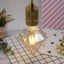 Алмазная лампа Эдисона, Ретро винтажный светодиодный светильник, теплый белый, мягкий, не блестящий, высокая яркость, спиральный светильник, лампа