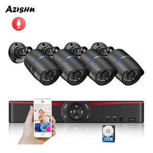 Image 1 - AZISHN H.265 + 5MP POE NVR CCTV نظام الأمن الصوت 5MP/3MP/2MP IP كاميرا P2P Onvif طقم مراقبة الفيديو في الهواء الطلق الكمبيوتر والهاتف