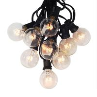EASY-european plug, G40 Globe strings with 25 clear bulbs, 25Ft UL listed for indoor and outdoor decoration for garden, patio, p